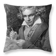 Ludwig Van Beethoven Throw Pillow