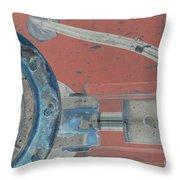 Lug Nut Wheel Left  Throw Pillow