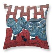 Lug Nuts On Grate Horizontal Throw Pillow