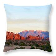 A Sandstone Landscape Throw Pillow