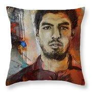 Luis Suarez Throw Pillow