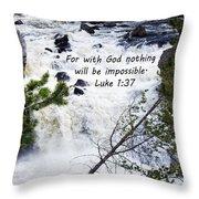 Luke 1 37  Throw Pillow