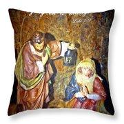 Luke 2 12 Throw Pillow