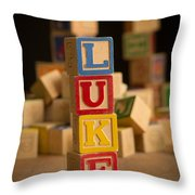 Luke - Alphabet Blocks Throw Pillow