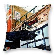 Lulu Asian Bistro Throw Pillow by Tom Riggs
