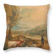 Lulworth Castle Throw Pillow