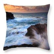 Lumahai Sea Explosion Throw Pillow