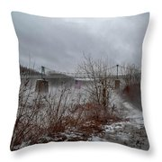 Lumberville Bridge Bucks County Throw Pillow