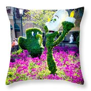 Lumiere And Chip Throw Pillow