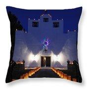 Luminarias At St Francis De Paula Throw Pillow