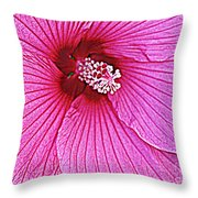 Luminescent In Pink Throw Pillow