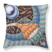 Luminosity - Study In Opal And Pearl Throw Pillow