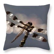 Luminous Dragonfly Throw Pillow