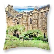 Lumley Castle Throw Pillow