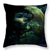 Lunar Child Throw Pillow