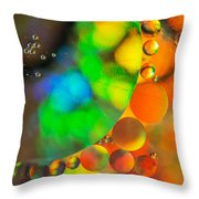 Lunar Eclipse Throw Pillow by Angie Vogel