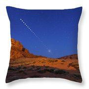 Lunar Eclipse Sequence From Monument Throw Pillow