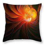 Lunar Lotus Throw Pillow