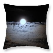 Lunar Ocean Throw Pillow