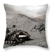 Lunar Vehicle In Distress Throw Pillow