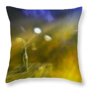 Lunaria Annua  Throw Pillow