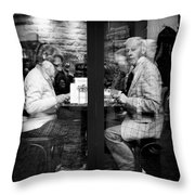 Lunch Throw Pillow by Dave Bowman