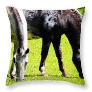 Lunch For Two Green Options Throw Pillow