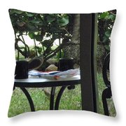 Lunch Guests Al Fresco Throw Pillow