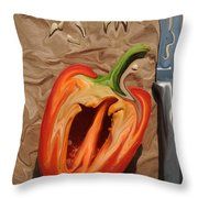 Lunch With Salvadore Dali Throw Pillow