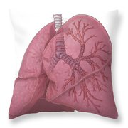Lungs And Bronchi Throw Pillow
