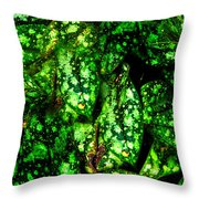 Lungwort Leaves Abstract Throw Pillow