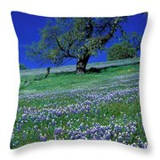 Lupine And The Leaning Tree Throw Pillow