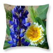 Lupine And Tidy Tip Throw Pillow