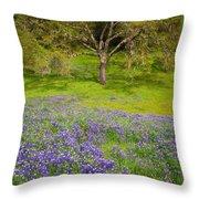 Lupine Oak Throw Pillow