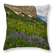 Lupines On The Hillside Throw Pillow