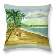 Luquillo Beach And El Yunque Puerto Rico Throw Pillow