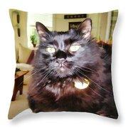 Lura Leigh Kitty Throw Pillow