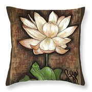 Lure Of The Lotus Throw Pillow by VLee Watson