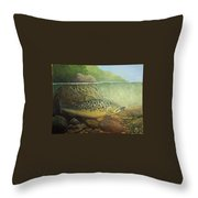 Lurking Throw Pillow by Rick Huotari