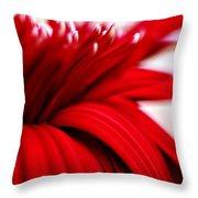 Luscious Red Flower Throw Pillow