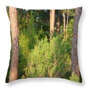 Lush Forest Throw Pillow