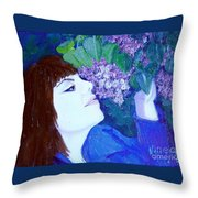 Lush Lilacs Throw Pillow