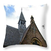Luss Church Steeple Throw Pillow