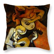 Lute Players Throw Pillow
