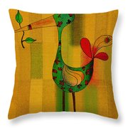 Lutgarde's Bird - 061109106-wyel Throw Pillow by Variance Collections