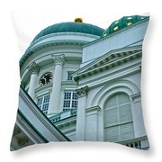 Lutheran Cathedral Of Helsinki-finland Throw Pillow