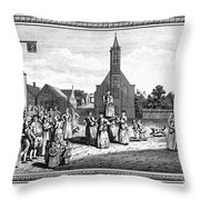 Lutheran Wedding, 1700s Throw Pillow by Granger