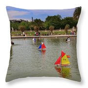 Luxembourg Gardens Paris Throw Pillow