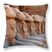 Luxor Temple 3 Throw Pillow