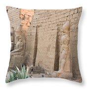 Luxor Temple Throw Pillow
